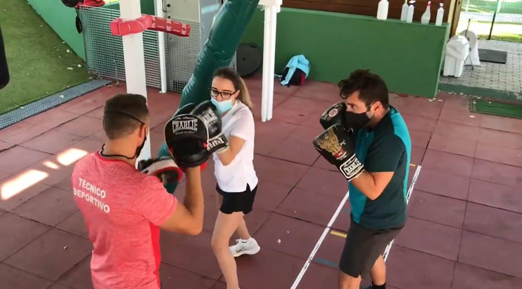 actividad boxeo al aire libre