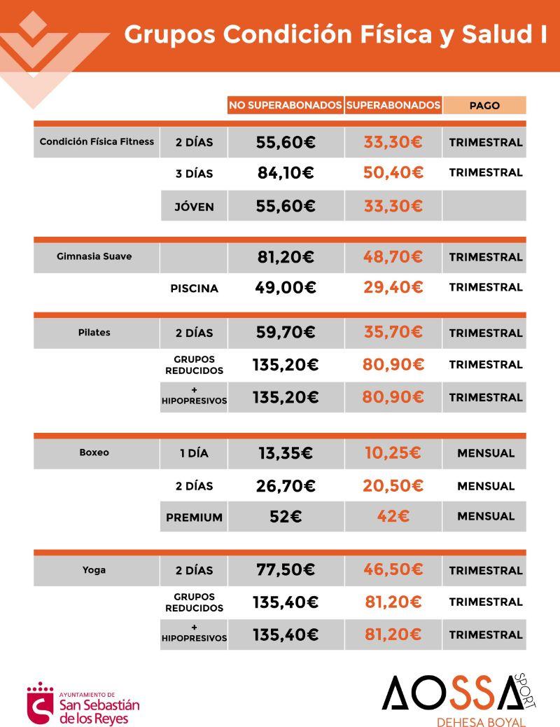 PRECIOS ACTIVIDADES FISICAS WEB 2021-1